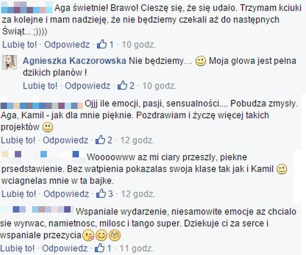 Komentarze fanów Agnieszki Kaczorowskiej