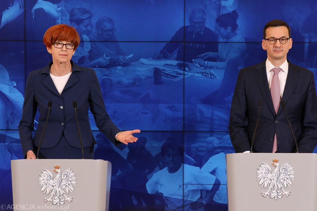 Minister Elżbieta Rafalska i premier Mateusz Morawiecki