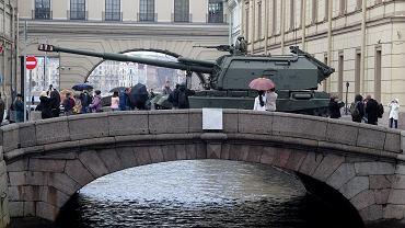 Czołg podczas rosyjskiej parady
