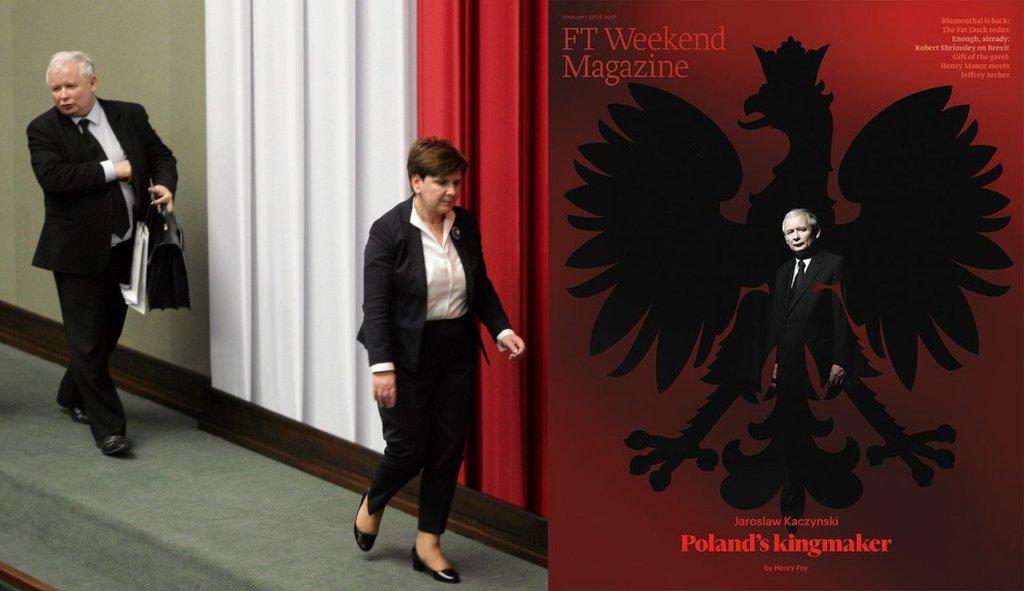 Jarosław Kaczyński, Beata Szydło i okładka