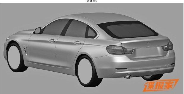 BMW 4 Gran Coupe | Wyciek�y szkice patentowe
