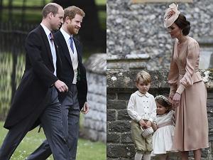 Książę William i książę Harry, księżna Kate