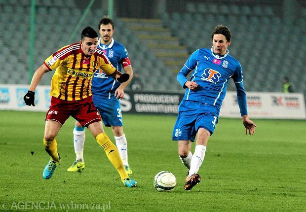 Vanja Marković podczas jesiennego meczu z Lechem Poznań (1:0)