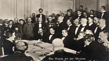 Brześć, 9 lutego 1918 r., podpisanie traktatu pokojowego między państwami centralnymi i Ukraińską Republiką Ludową