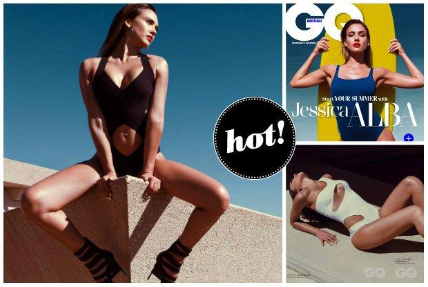 Seksowny minimalizm na pla�y, czyli Jessica Alba w najmodniejszych kostiumach k�pielowych w GQ [ZDJ�CIA]