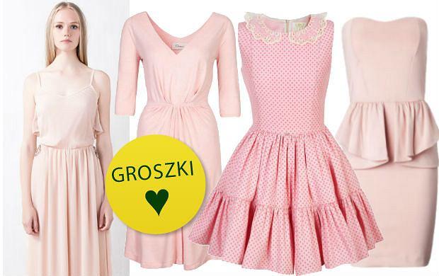 Sukienki w kolorze pudrowego r�u
