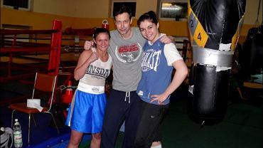 Szymon Majewski na treningu bokserskim Legii