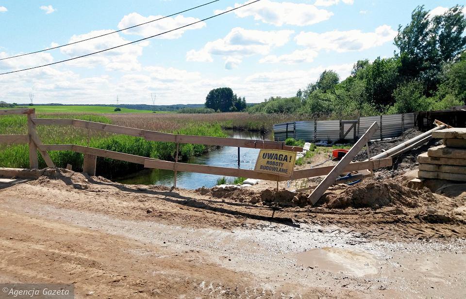 Most nad Łyną przy drodze powiatowej Bartąg - Ruś