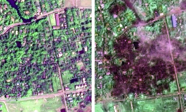 Zdjęcia satelitarne z Mjanmy