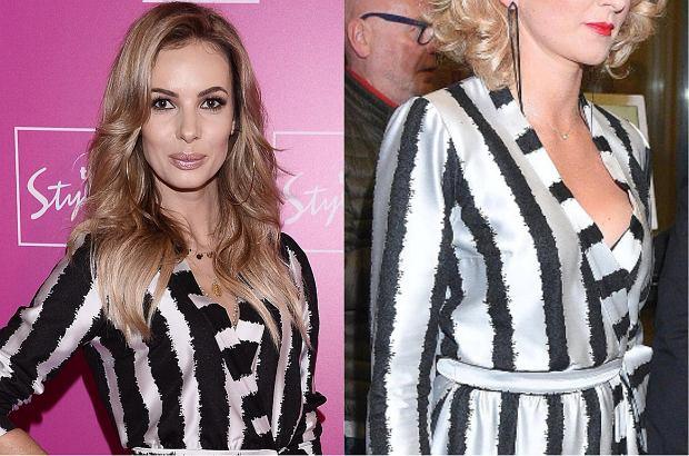Izabela Janachowska, gwiazda stacji TVN Style oraz Justyna Jeger-Nagłowska, dziewczyna Borysa Szyca, założyły taką samą sukienkę. Która z nich wygląda lepiej?