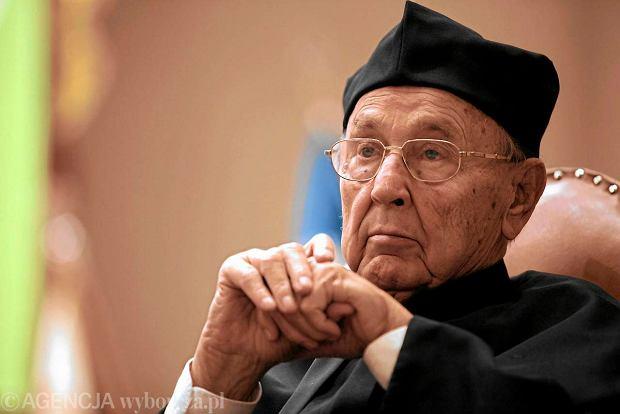Hans-Dietrich Genscher podczas nadania tytu�u doktora honoris causa Uniwersytetu Ekonomicznego w Poznaniu w 2011 r.