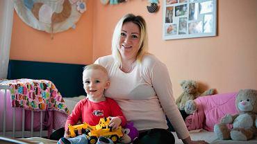 Magdalena, mama półtorarocznego Saszy, teraz w 8 miesiącu ciąży