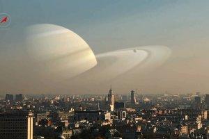 Jak wygl�da�oby niebo, gdyby planety zast�pi�y nasz Ksi�yc? Mniej wi�cej tak