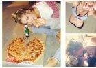 Candice Swanepoel zajada si� pizz�, a Bar Refaeli po raz kolejny chwali si� p�askim brzuchem...[ZDJ�
