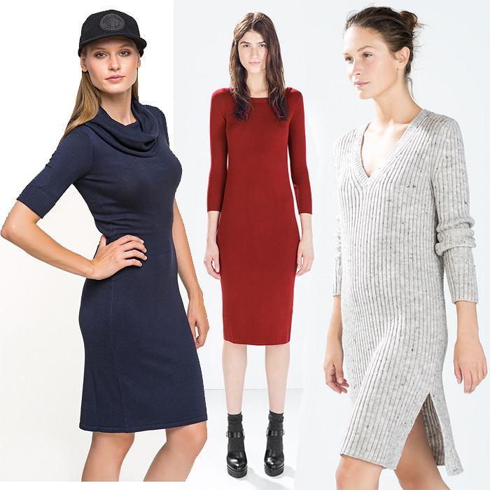 00f9d2d300 Dzianinowe sukienki  ciepłe i modne propozycje na jesień
