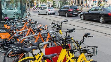 Rowery miejskie Ofo w Wiedniu