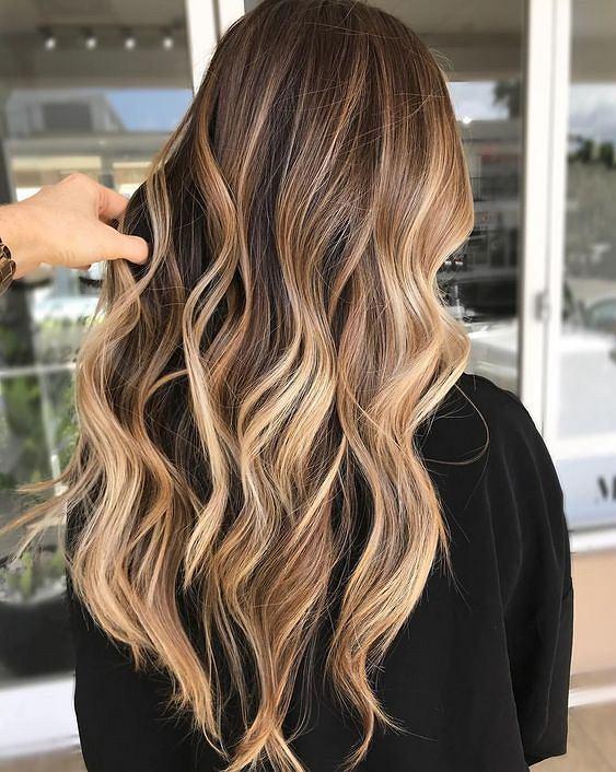 Iced caramel latte hair