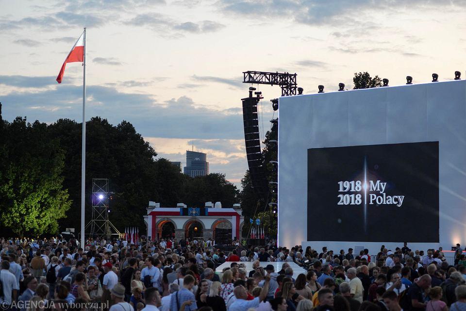 Widowisko muzyczne Wolność we krwi na pl. Piłsudskiego
