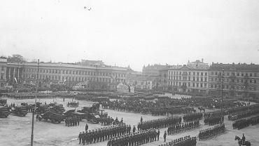 Uroczystości święta 3 Maja na Placu Saskim w Warszawie