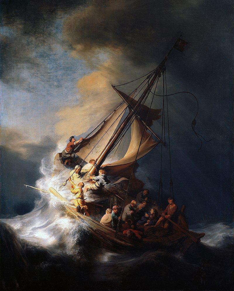 Rembrandt, Burza na Jeziorze Galilejskim, 1633 / Domena publiczna / Isabella Stewart Gardner Museum