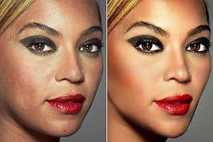 Silnie wyretuszowana Beyonce