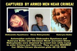 Dzia�aczki z Majdanu pr�bowa�y wjecha� na Krym. Zatrzymali je umundurowani m�czy�ni