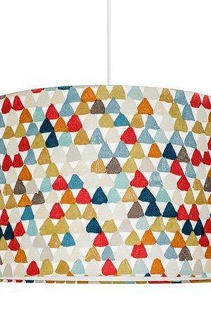 Lampa sufitowa kolorowe trójkąciki