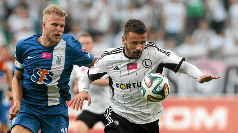 Legia Warszawa - Lech Poznań 1:2. Paulus Arajuuri i Orlando Sa