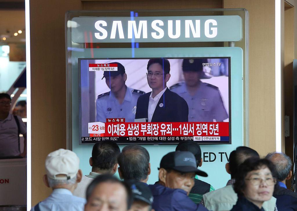 Lee Jae-yong, szef Samsunga, nieprawomocnie skazany na 5 lat więzienia