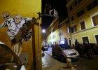 Papie� Franciszek jako kibic i Superman? Tak przedstawi� go autor rzymskiego graffiti