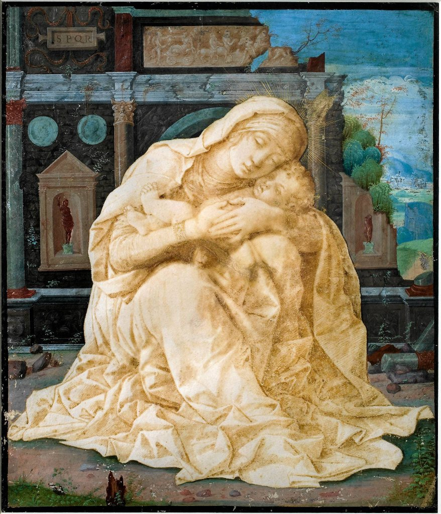 Andrea Mantegna 'Matka Boska z Dzieciątkiem'. Wystawa 'Maria. Mater Misericordiae'  / Andrea Mantegna 'Matka Boska z Dzieciątkiem'. Wystawa 'Maria. Mater Misericordiae'