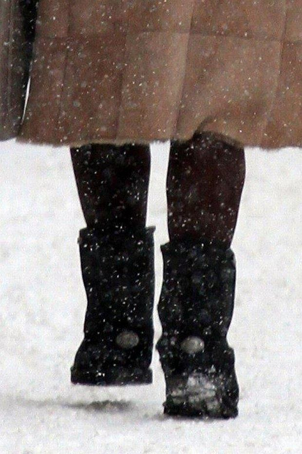 Kinga Rusin, buty, zima, śnieg