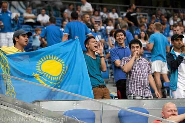 Kibice Żetysu z Kazachstanu