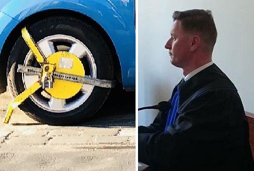 Mecenas Marcin Zatorski wygrał sprawę o zielone koperty i sam dostał blokadę na koło za zaparkowanie na jednej z nich