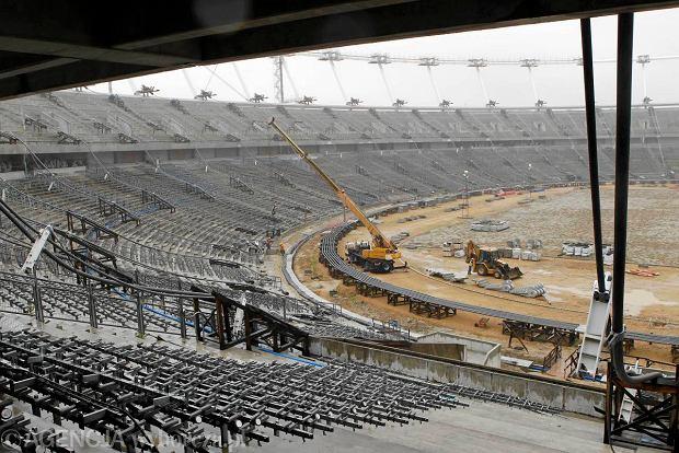 Wrzesień 2012 roku. Na budowie Stadionu Śląskiego.