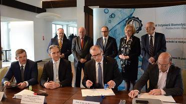 Podpisanie umowy ws. utworzenia centrum badawczego w Zabrzu