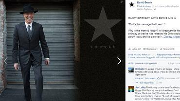 Ostatnie zdjęcie Davida Bowiego