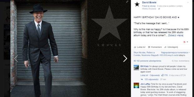 Ostatnie zdj�cie Davida Bowiego