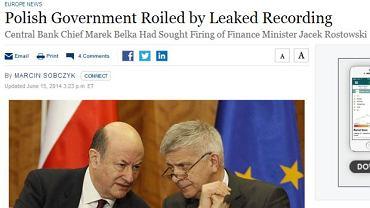 """O aferze podsłuchowej pisze m.in. """"The Wall Street Journal"""""""
