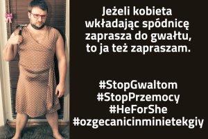 Polscy m�czy�ni robi� sobie zdj�cia w sp�dniczkach i zapraszaj� do gwa�tu