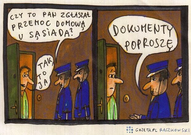 Raczkowski o przemocy domowej -  - rys. Marek Raczkowski
