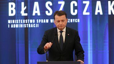 Mariusz Błaszczak podczas konferencji