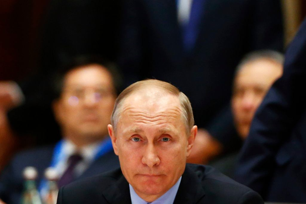 Władimir Putin podczas wizyty w Chinach, maj 2017 r. (fot. Thomas Peter / Pool Photo via AP)