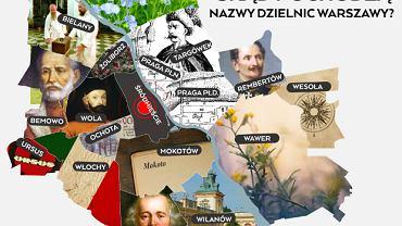 Nazwy dzielnic Warszawy - skąd pochodzą