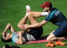 Cristiano Ronaldo podczas środowego treningu