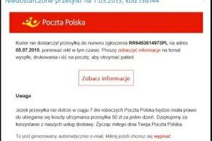 Uwaga na maile z Poczty Polskiej. To hakerzy