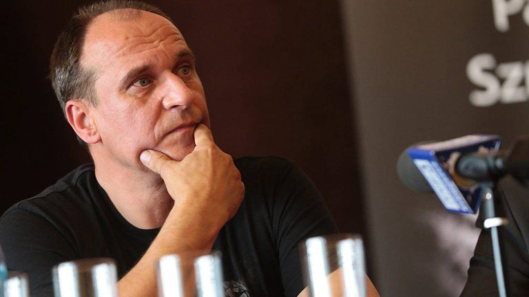Paweł Kukiz podczas spotkania w I LO