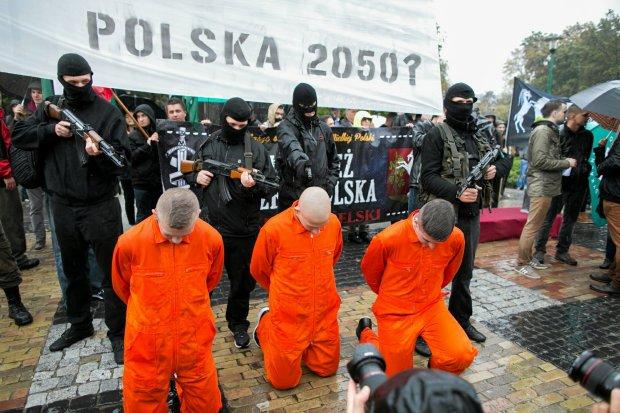 ONR pikietuje w Lublinie przeciwko uchodźcom