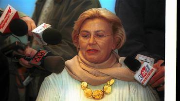 Barbara Piasecka-Johnson podczas wizyty w Poznaniu w 2001 r.