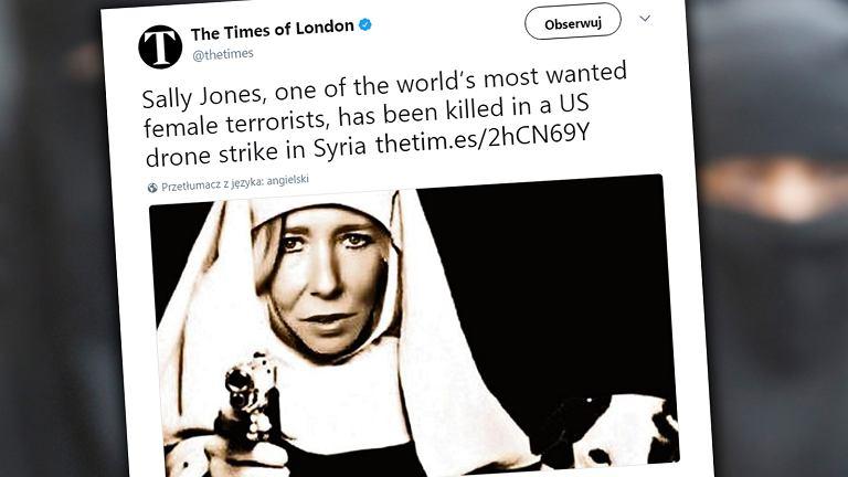 'Biała Wdowa' zginęła w ataku drona - podaje 'The Times'